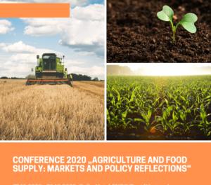 """Програма на VII-та международна научна конференция """"Земеделие и снабдяване с храни: пазари и аграрни политики""""2020"""